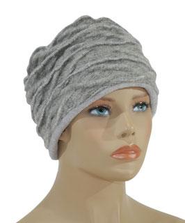 Walkmütze Wintermütze Damenmütze hellgrau Waida