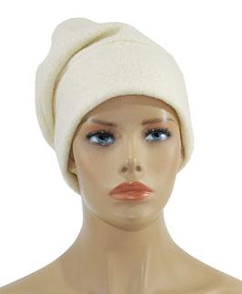 Beanie Wollmütze Loden Mütze wollweiß Wilma