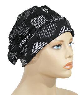 Ballonmütze Baskenmütze schwarz grau Becca