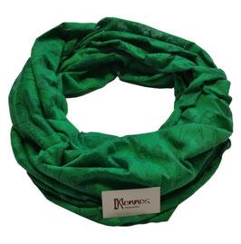 Loop Schal grasgrün Jaquard Muster