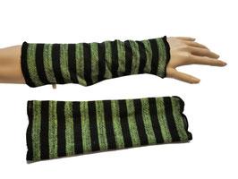 Armstulpen Streifen grün-schwarz