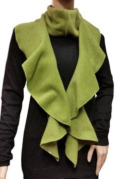 Lagenlook Spiralenschal Fleece hellgrün
