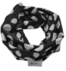 Schlauchschal tupfen schwarz - weiß