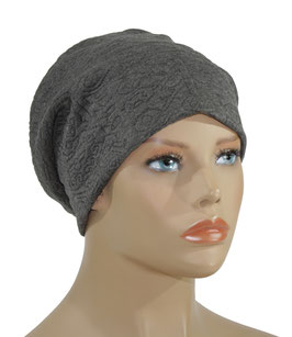 Beanie Mütze Jersey Rihanna grau