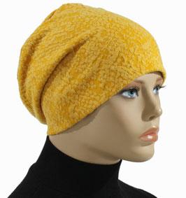 Damenmütze Beanie Mütze Chemo Cap gelb Alena