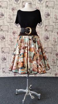 Tellerrock Petticoatrock Baumwolle Vintage Look Liane