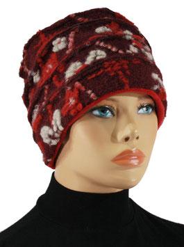 Damenmütze Wollmütze Lagenlook Walkmütze Elsa
