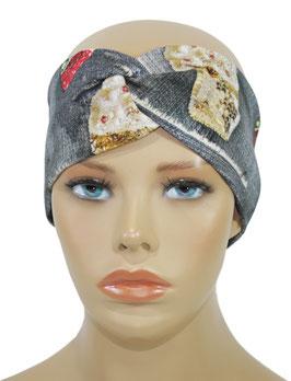 Turban Stirnband für Damen Jeans Look