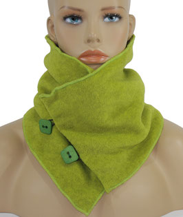 Schal Kragen Fleece hellgrün kiwigrün Pam