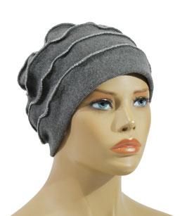 Damen Wollmütze grau Valda