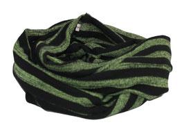 Loop Schal Streifen grün - schwarz Tilly