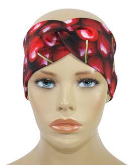 Turban Stirnband Haarband Headband rote Kirschen