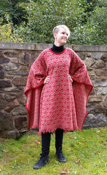 Poncho Wollcape rot