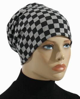 Beanie Mütze Wintermütze schwarz grau Jette