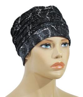 Chemo Mütze Beanie Mütze marmoriert blau Blue