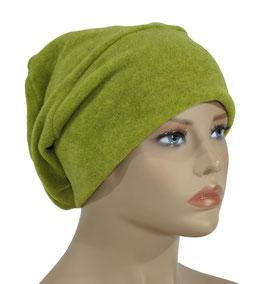 Beanie Fleece Mütze gelbgrün Pam