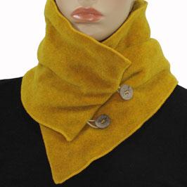 Fleece Kragen Schal senfgelb Palina