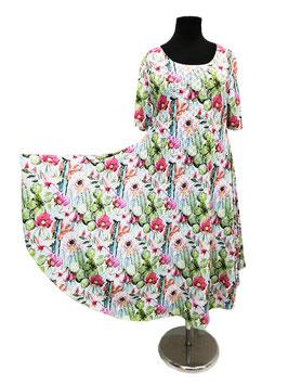 Jerseykleid Sommerkleid Tellerkleid Mexika