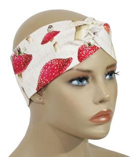 Stirnband Haarband Headband Turban Pilz