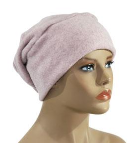 Beanie Mütze Fleece Mütze rosa Pamina