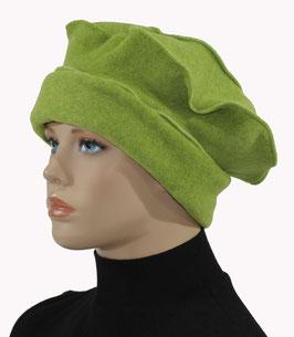 Ballonmütze Basken Mütze Fleece grün Pina