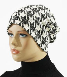 Damenmütze Beanie Mütze Chemo Cap Hahnentritt Helene