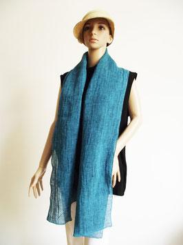 Leinen Schal türkis