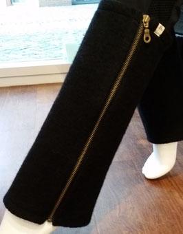 Beinstulpen schwarz mit Reißverschluss