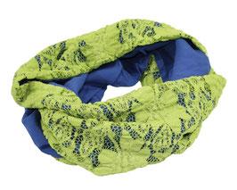 Rundschal Spitze grün blau