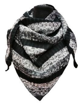 Dreieckstuch schwarz-grautöne Beta