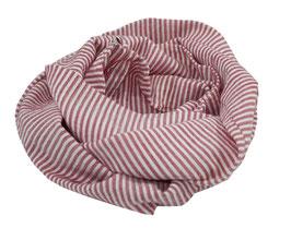 Loop Schal Streifen rot weiss Cate