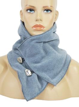 Damen Fleece Schal Kurzschal eisblau Fibi