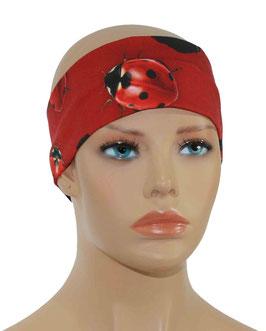 Damen Stirnband rot schwarz Marini