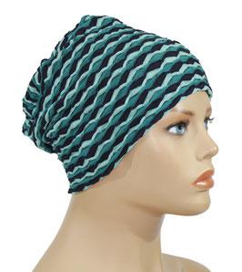 Chemo Beanie Mütze blautöne Alexi