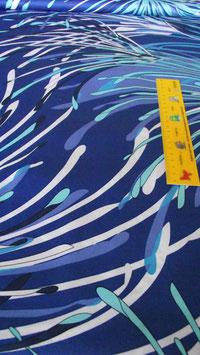 Baumwollstoff Sommerstoff Fantasy blau
