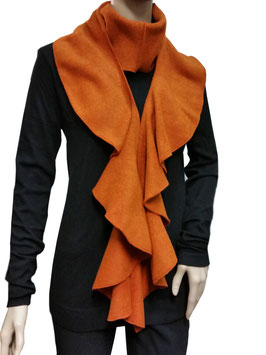 Lagenlook Spiralenschal Fleece orange Poppy