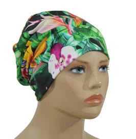 Damen Beanie Mütze Jerseymütze Orchidee