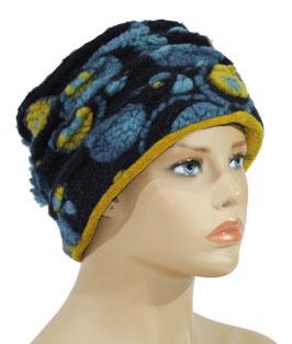 Walkmütze blau gelb Wallis