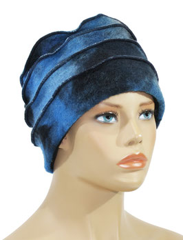 Walkmütze batik blau Benja