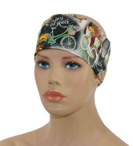 Stirnband für Damen Fahrrad Motiv
