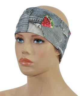 Stirnband für Damen Jeans Look