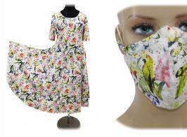 Sommerkleid Damenkleid Mundschutz Jersey Kiki