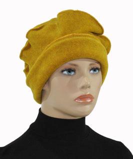 Damenmütze Ballonmütze Baskenmütze senfgelb Palina