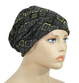 Beanie Mütze Chemo Mütze graugrün samtig Burga