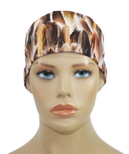 Stirnband für Damen brauntöne Federndruck
