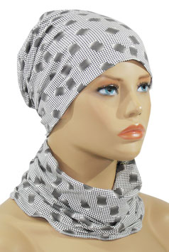 Mütze Schal Set grautöne Alea