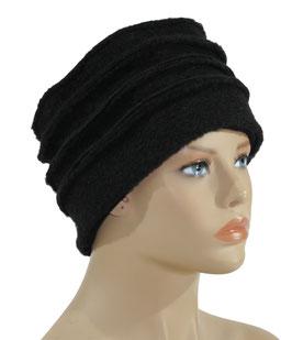Walkmütze Wintermütze Damenmütze schwarz Belle