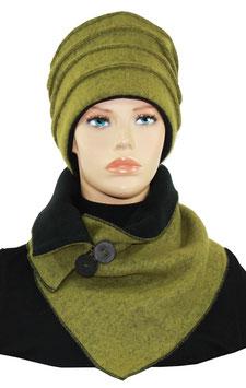 Walk Mütze Schal Set olivgrün Gwen