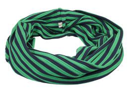 Loop Schal Rundschal Streifen blau grün Nane
