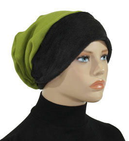 Beanie Mütze Wintermütze grün schwarz Sabrina